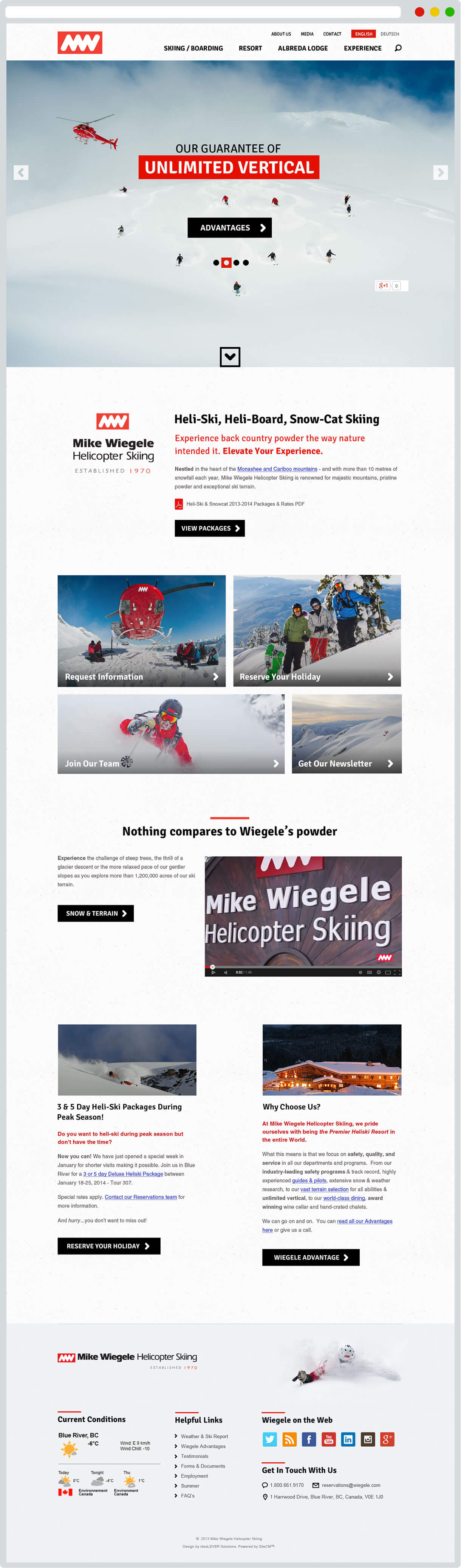 Wiegele.com homepage screenshot